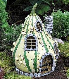 Striped gourd cottage