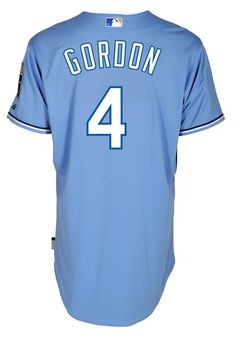 Kansas City Royals Men's Light Blue Alex Gordon Majestic Replica Jersey I have one of these! Kc Royals Baseball, Baseball Jerseys, Alex Gordon, American League, Kansas City Royals, Nfl, Light Blue, My Style, Sports