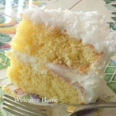 Coconut Cake-Southern Recipe.... Gotta find a good recipe for my dad's birthday