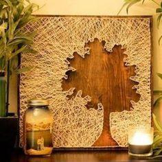 Evde Tahta , Çivi ve İp İle Yapabileceğiniz Dekoratif Eşyalar