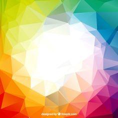 Polígonos de colores Vector Gratis