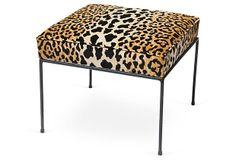 Midcentury Animal Print Bench on OneKingsLane.com