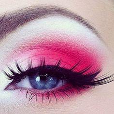 Hot Eye Makeup #pink #eyeshadow #Eyeshadow #eye #makeup #bright #dramatic #eyes