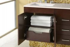Ronbow Concealed Drawer for bathroom accessories 36 Bathroom Vanity, 30 Vanity, Bathroom Vanities Without Tops, Bathroom Cabinetry, Wall Hung Vanity, Bathroom Inspo, Modern Bathroom, Bathroom Ideas, Bathroom Remodeling