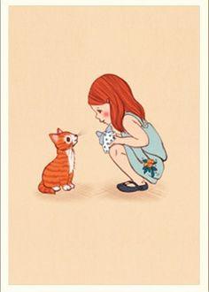 Belle & Boo postcard - Hello Kitty