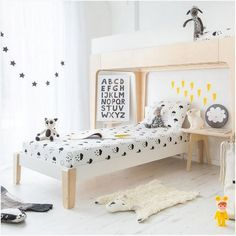 white and light bunk beds