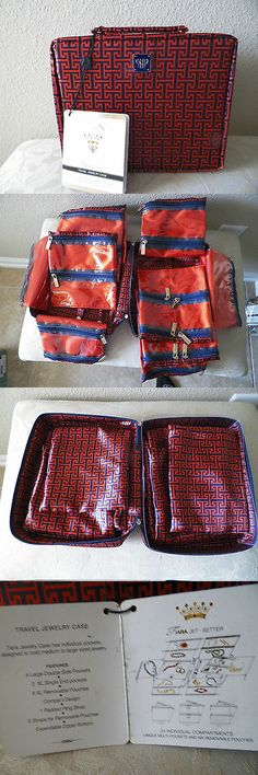 Other Jewelry Holders 168166: Pursen Tiara Extra Large Jet-Setter Jewelry Case (Red/Black Mykonos) -> BUY IT NOW ONLY: $50.0 on eBay!