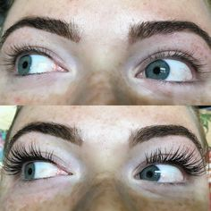 Before and after eyelash extensions  #novalash