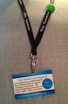 lactation lanyard - showing the size of a newborns stomach- nourish baby, not empty a bottle..