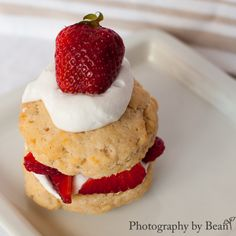 Vegan, Gluten and Refined Sugar Free Strawberry Shortcakes