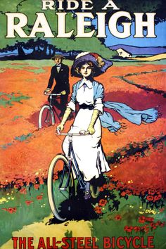 Another Vintage Bicycle POSTER. My first bike was a Raleigh cycling motivation…