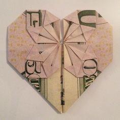 Wedding Present- Origami money in a wedding frame <3