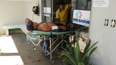 #News  Trabalhador rural corta a perna com roçadeira enquanto trabalhava em MG
