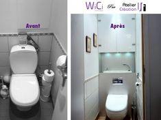 Gain de place réalisées grâce à la gamme de lave-mains WiCi Concept