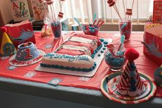 Dr Seuss Cat In The Hat Birthday Cake