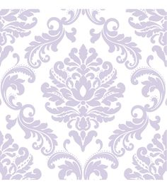WallPops®NuWallpaper™ Purple Ariel Damask Peel And Stick Wallpaper,