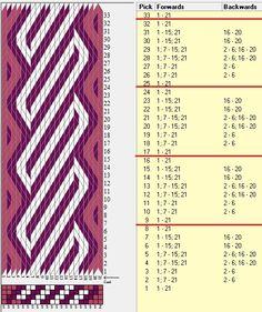 21 tarjetas, 3 colores, repite caa 8 movimientos // sed_605 diseñado en GTT༺❁