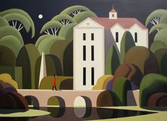 "Andy Wooldridge  Title: Longworth Hall  Medium: Oil on Canvas  Dimensions: 36"" x 48"""