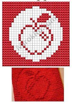 Apple Dish cloth pattern.  http://vk.com/club31635666