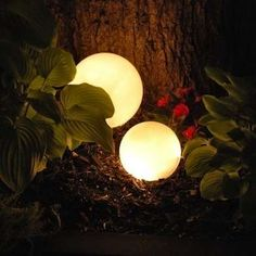 Christmas lights in thrift store light covers | 13 DIY Lanterns to Illuminate Your Porch, Patio, or Garden