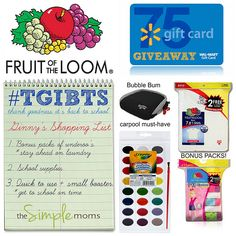#TGIBTS Thank Goodness it's Back To School $75 Walmart giveaway