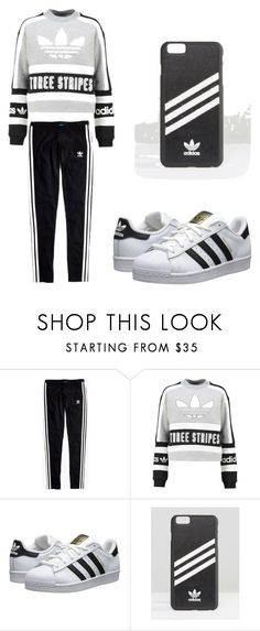 """""""3 stripes adidas"""" by briebrie-diva on Polyvore featuring Madewell and adidas Originals"""