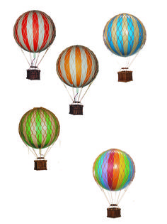 gifts for kids rooms and home. hot air balloons decor and mobiles.