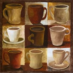 Coffee mug poster.would look great in a coffee shop or kitchen, or coffee bar/wet bar area of home Coffee Cup Art, Coffee Poster, Coffee Coffee, Coffee Artwork, Coffee Talk, Coffee Painting, Switch Plate Covers, Light Switch Plates, I Love Coffee
