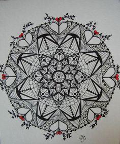 Hermosos Mandalas Y Mucho Zentangle Tangled Ink Art My