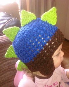 Baby Dinosaur Earflap Beanie Toddler3yrs by EmberleeStyles on Etsy, $18.00