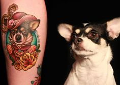Calliope would most definitely get a tattoo of her corgi.