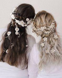 Chignon Wedding, Romantic Wedding Hair, Beach Wedding Hair, Braided Hairstyles For Wedding, Whimsical Wedding, Wedding Beauty, Bridal Braids, Bridal Headpieces, Loose Updo