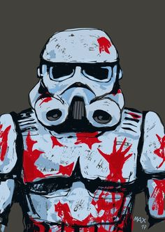 Bloody stormtrooper, Max Vidivici on ArtStation at https://www.artstation.com/artwork/1G4me