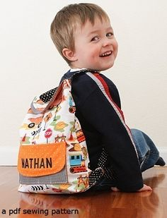 Preschool Backpack a PDF sewing pattern - free shipping. $7.50, via Etsy.