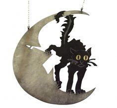 """Enseigne du cabaret """"Le chat noir"""". Adolphe Léon Willette, fin XIXe. Paris, musée Carnavalet."""