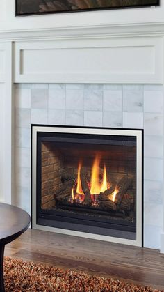 Gas fireplace inserts are designed to be placed inside an existing masonry fireplace and uses the existing fireplace and chimney to hold the unit and support venting. A gas fireplace insert transforms an old wood fireplace into a high-efficiency gas heater that uses either natural gas or propane and many are eligible for local government rebates. Fireplace Inserts, Wood Fireplace, Gas Insert, Expensive Coffee, Sustainable Energy, Old Wood, Firewood, New Homes, Interior Design