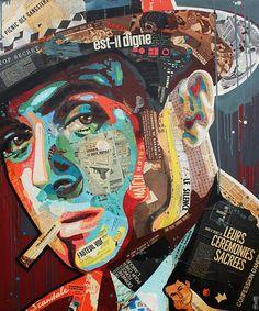 "Artist : Arnaud Bauville ""EST-IL DIGNE ?"" 100 x 120 cm (39,4 inches x 47,2 inches )"