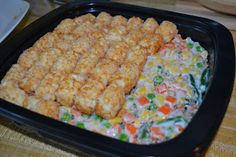 Bulk Tater Tot Casseroles - great for freezing - premade meals