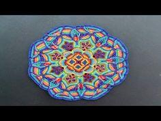 Overlay Crochet Mandala CAL - Petals to Picots Motif Mandala Crochet, Art Au Crochet, Crochet Circles, Crochet Motifs, Crochet Blocks, Crochet Squares, Knit Or Crochet, Crochet Crafts, Crochet Doilies