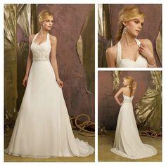 Cheap Price Ivory Chiffon Short Train Halter Designer Wedding Dress 2013 Backless on AliExpress.com. 10% off $125.99
