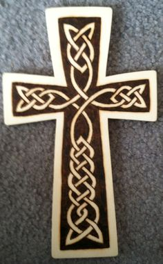 Wood burned cross