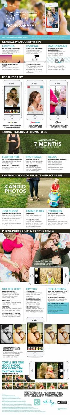 One of  the best infographics I've ever seen. The New Parents Guide to Mobile Photography [Infographic] image obaby infographic1