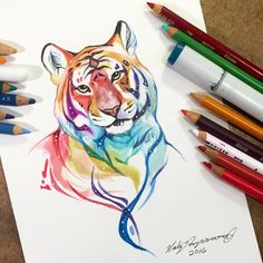 Sparkly Tiger by Lucky978.deviantart.com on @DeviantArt