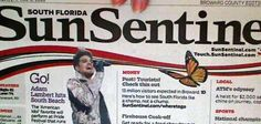 @karin4000: ADAM LAMBERT on the Front Page of the South Florida Sun Sentinel!  http://twitpic.com/cigmtc