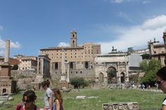 Here are some of the ruins in Forum Romanum