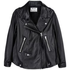 Acne Studios Leather Outerwear ($2,055) ❤ liked on Polyvore featuring outerwear, black and acne studios