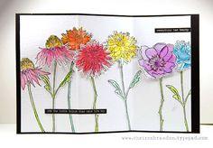 Cheiron Brandon using Tim Holtz Cling Rubber Stamps 2015 FLOWER GARDEN (cms215) - gorgeous!