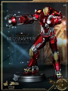 [Iron Man 3] 1/6 Red Snapper Mark XXXV (Hot Toys): Official Photoreview No.12 Big Size Images, Full Info from the Manufacturer