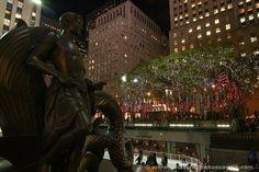 Hoy se inaugura el árbol de Navidad del Rockefeller Center #nuevayork #rockefellercenter