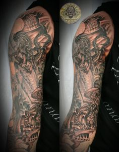 Rotten Bone Alien Biomech 8 by 2Face-Tattoo.deviantart.com on @DeviantArt